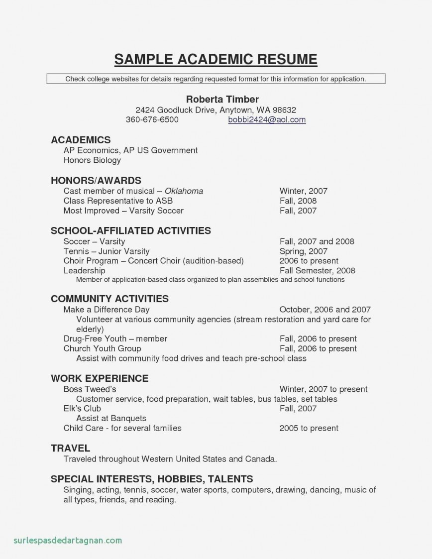 Resume Template College Student Addictionary