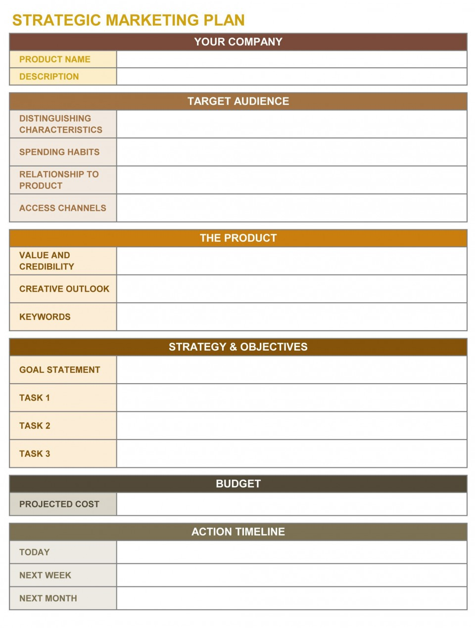 001 Incredible Strategic Planning Template Excel Free Example 960
