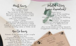 001 Incredible Traditional Wedding Order Of Service Template Uk Idea