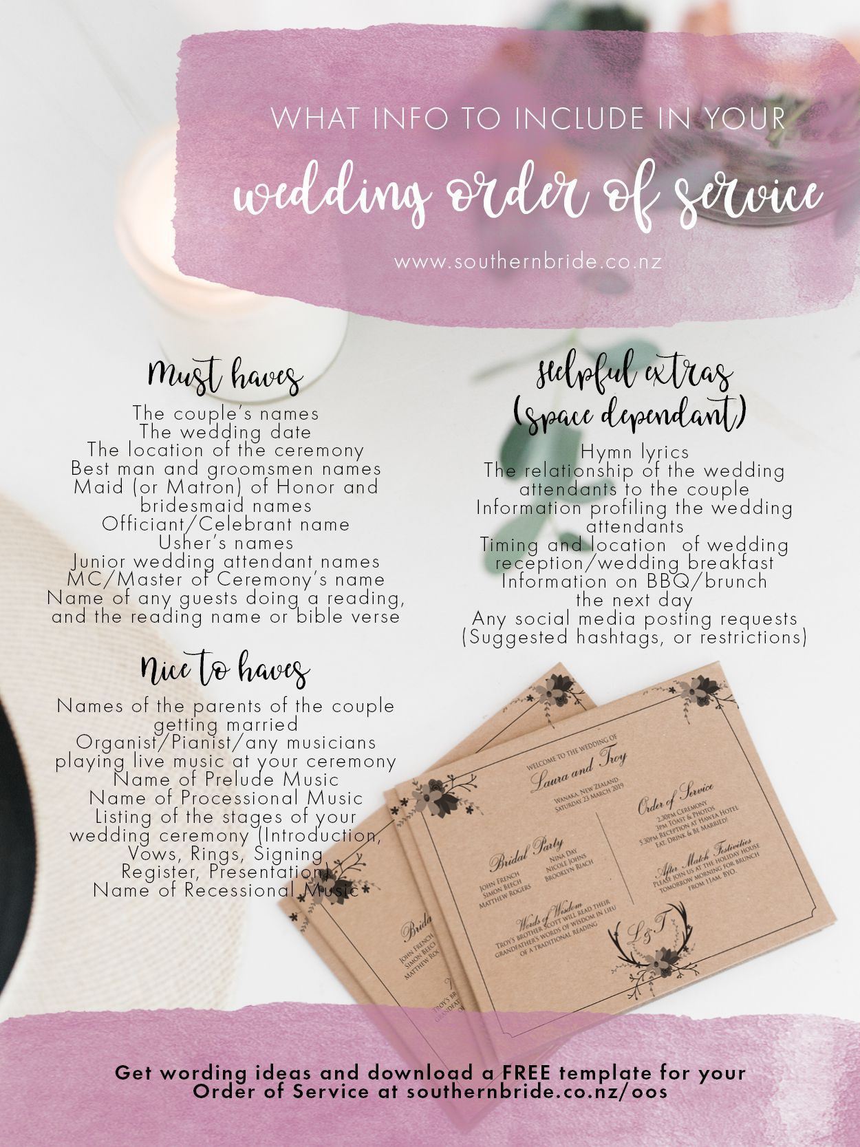 001 Incredible Traditional Wedding Order Of Service Template Uk Idea Full