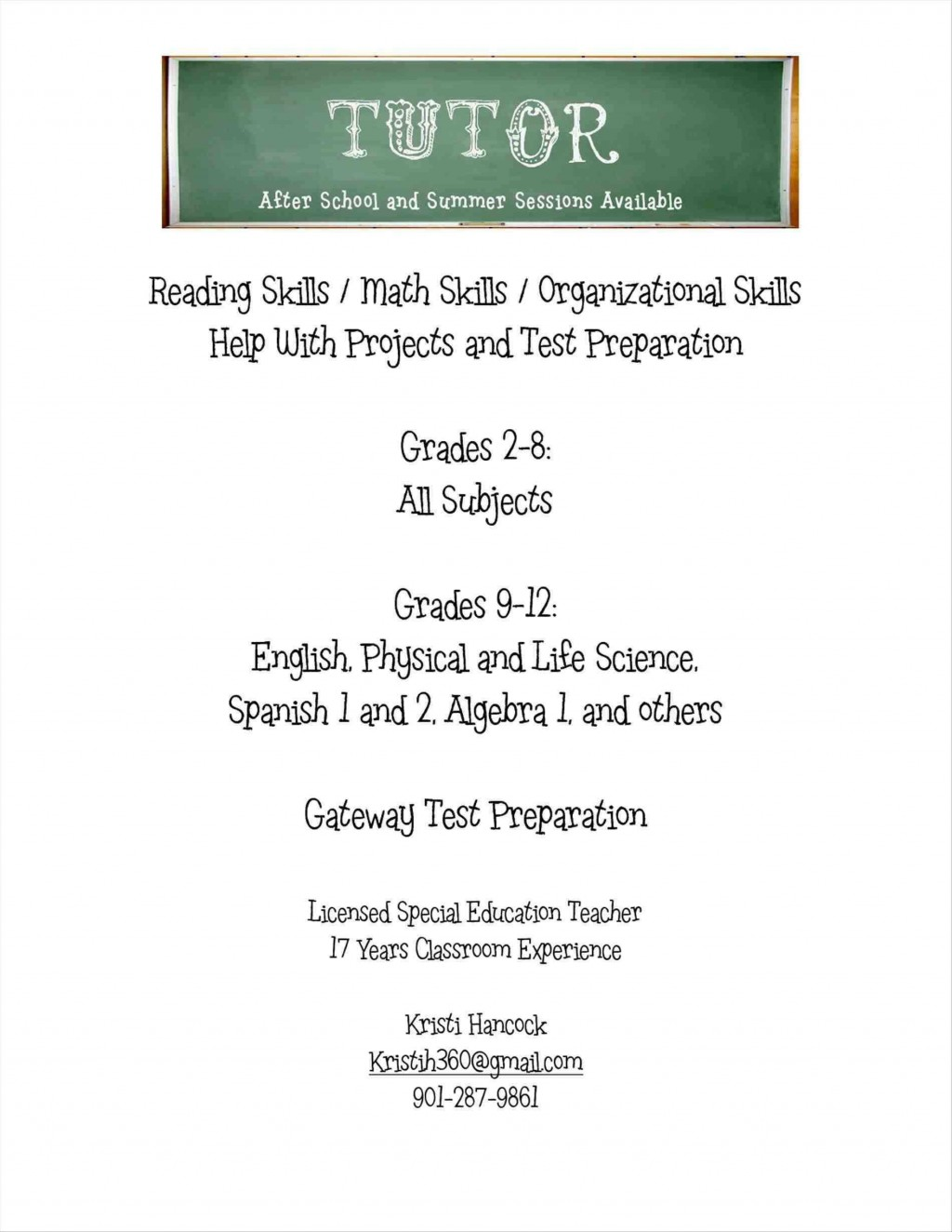 001 Incredible Tutor Flyer Template Free High Def Large