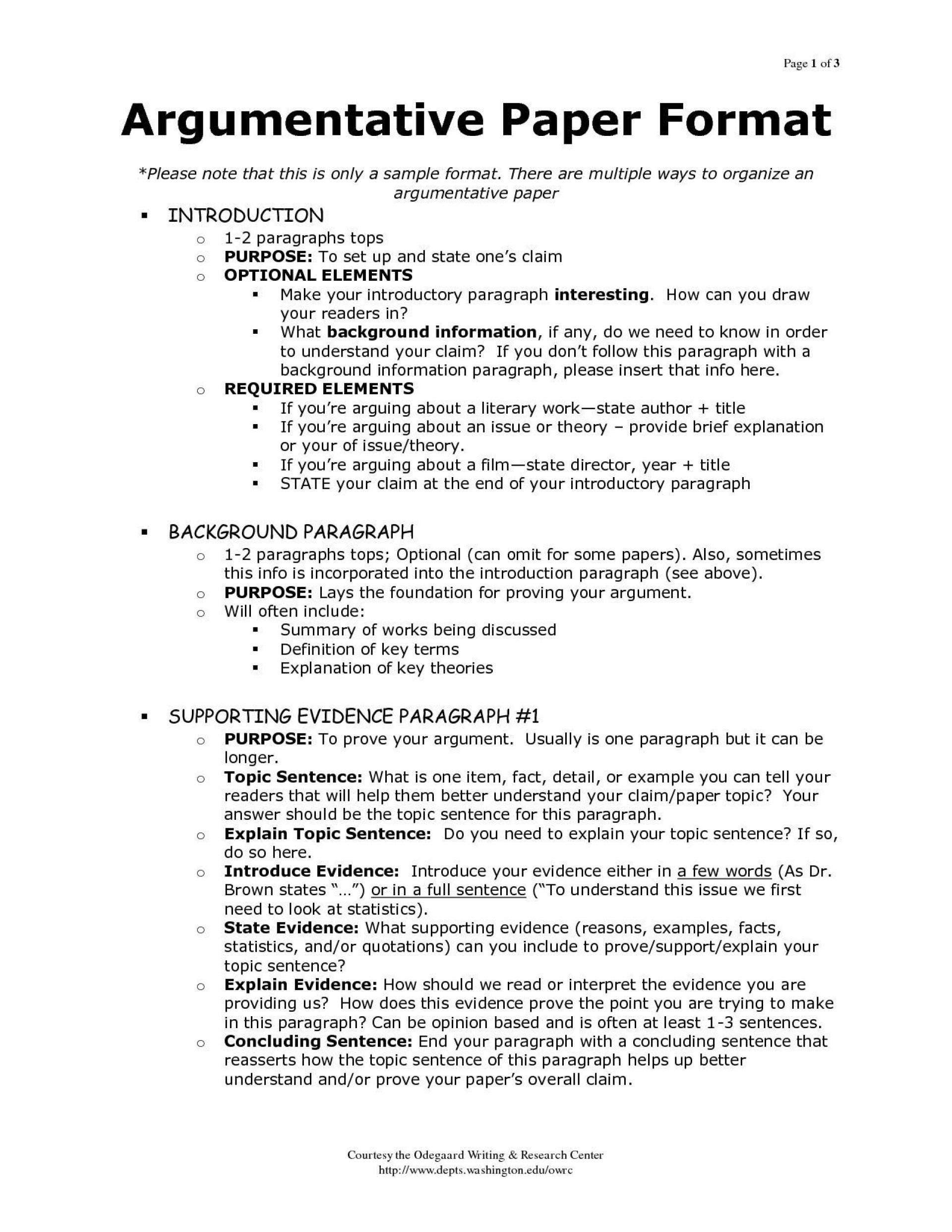 001 Magnificent Argumentative Essay Outline Template Concept  Mla Format Doc Middle School1920