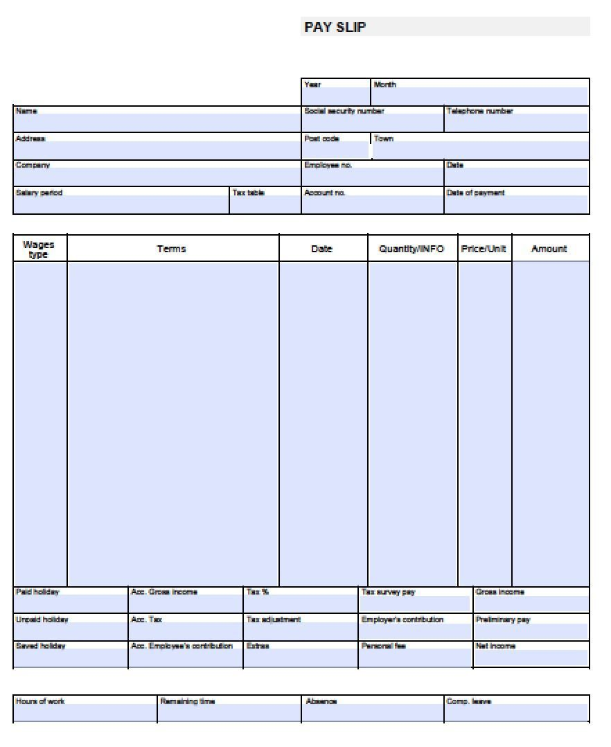 001 Magnificent Check Stub Template Free Idea  Pay Download Paycheck WordFull