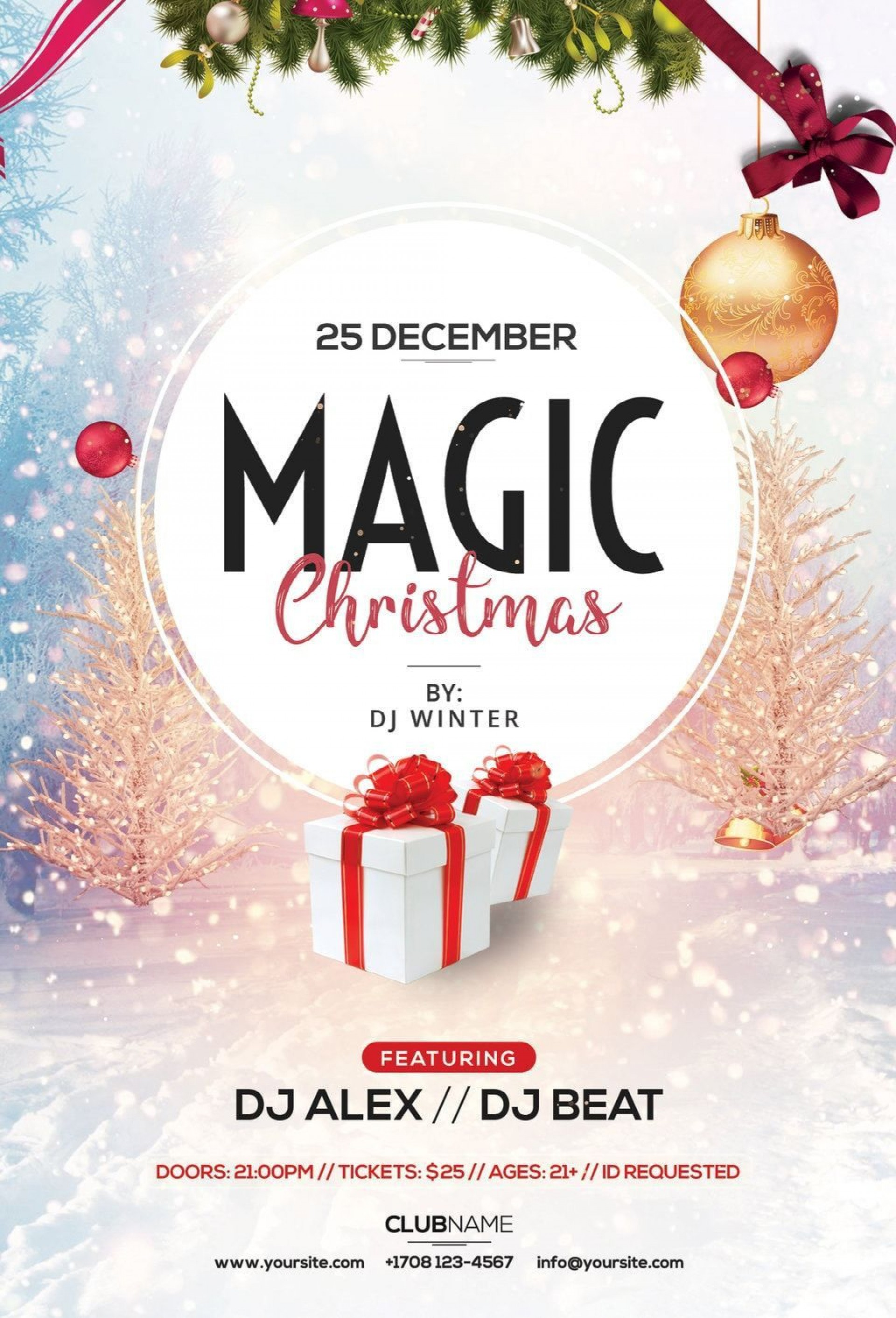 001 Magnificent Christma Flyer Template Free High Def  Party Invitation Psd Download1920