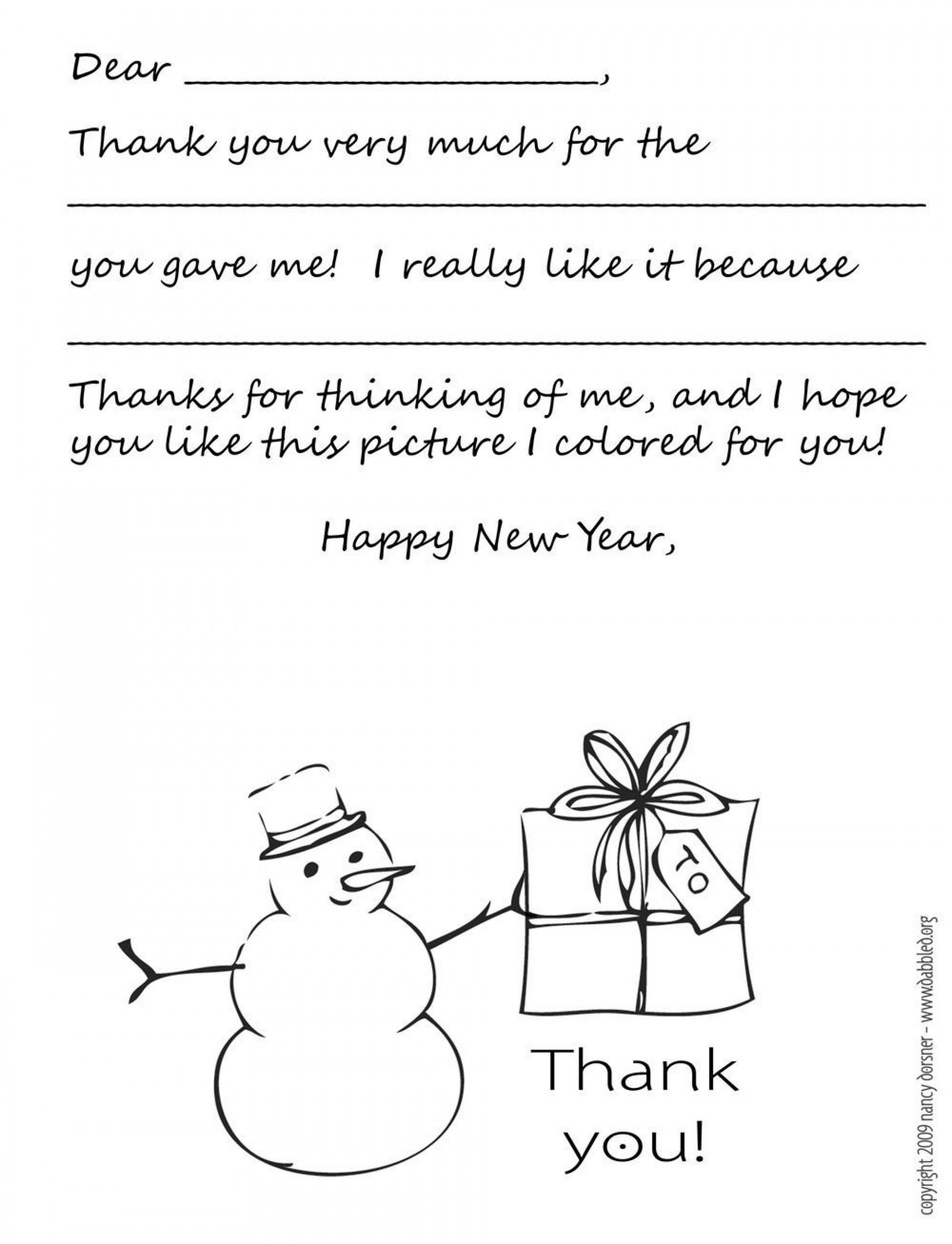 001 Magnificent Christma Thank You Note Template Free Concept  Letter Card1920