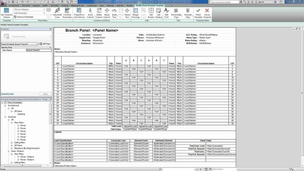 001 Magnificent Electrical Panel Schedule Template Excel Highest Quality  Load Single PhaseLarge