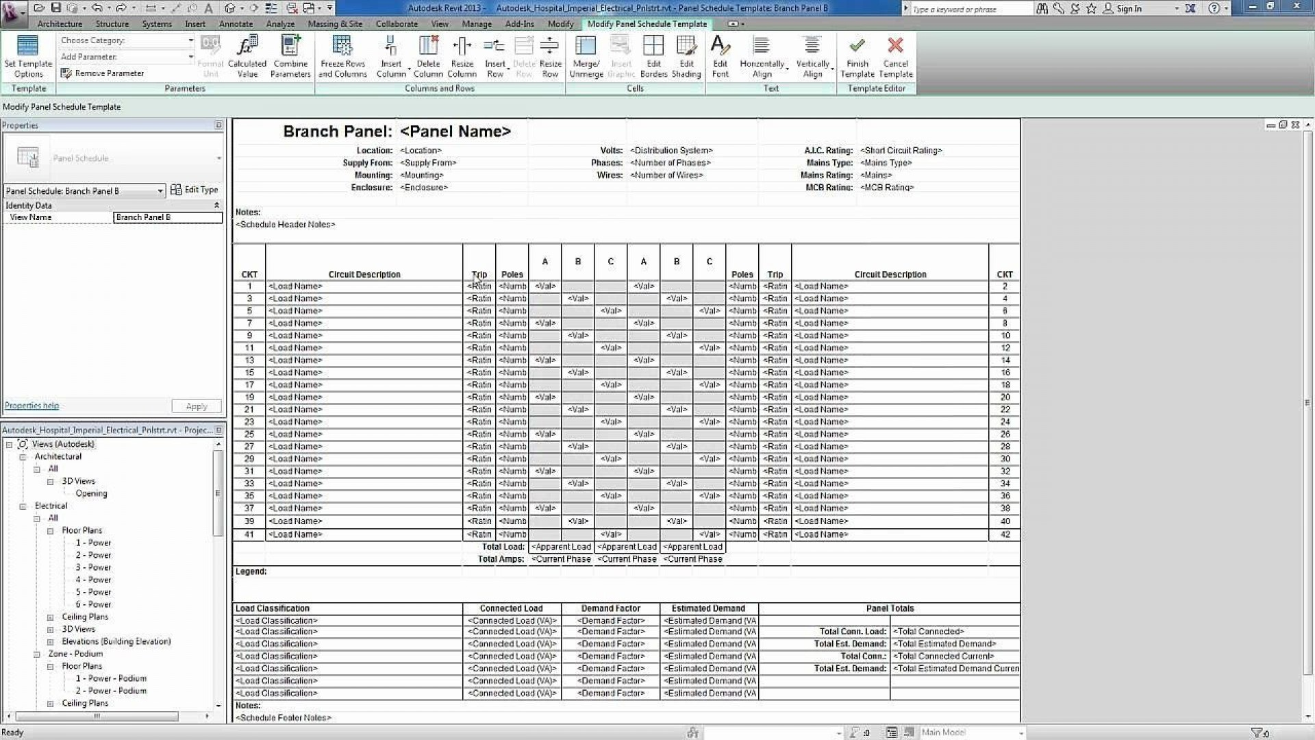 001 Magnificent Electrical Panel Schedule Template Excel Highest Quality  Load Single Phase1920