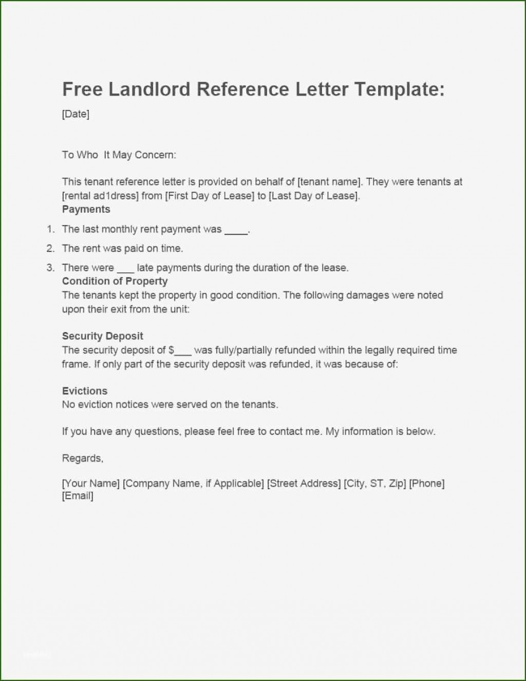 001 Magnificent Free Reference Letter Template For Landlord High Definition  RentalLarge