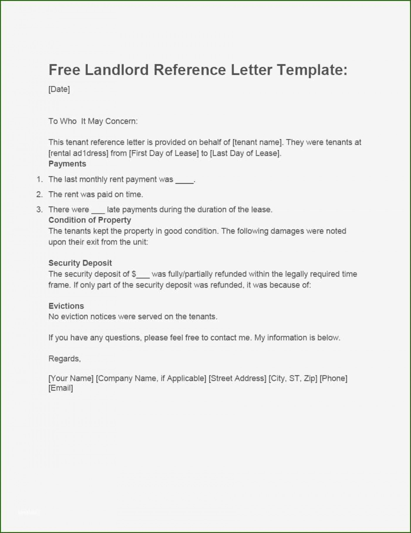 001 Magnificent Free Reference Letter Template For Landlord High Definition  Rental1400