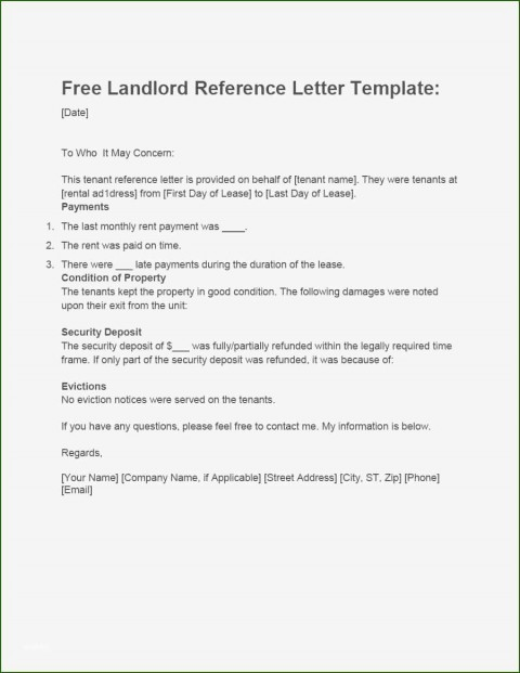 001 Magnificent Free Reference Letter Template For Landlord High Definition  Rental480