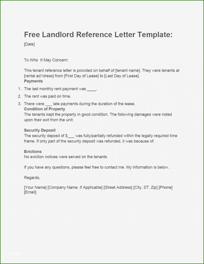 001 Magnificent Free Reference Letter Template For Landlord High Definition  Rental868