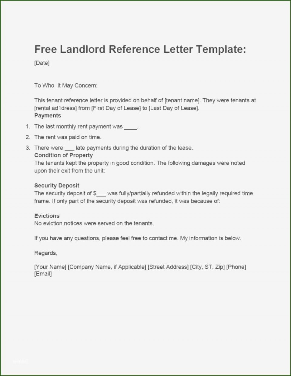 001 Magnificent Free Reference Letter Template For Landlord High Definition  Rental960