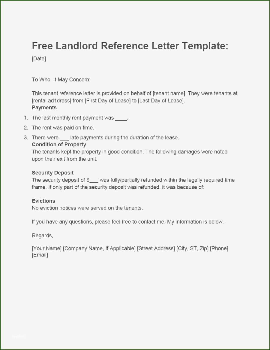 001 Magnificent Free Reference Letter Template For Landlord High Definition  RentalFull