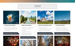 001 Magnificent Free Responsive Blogger Template With Slider Sample