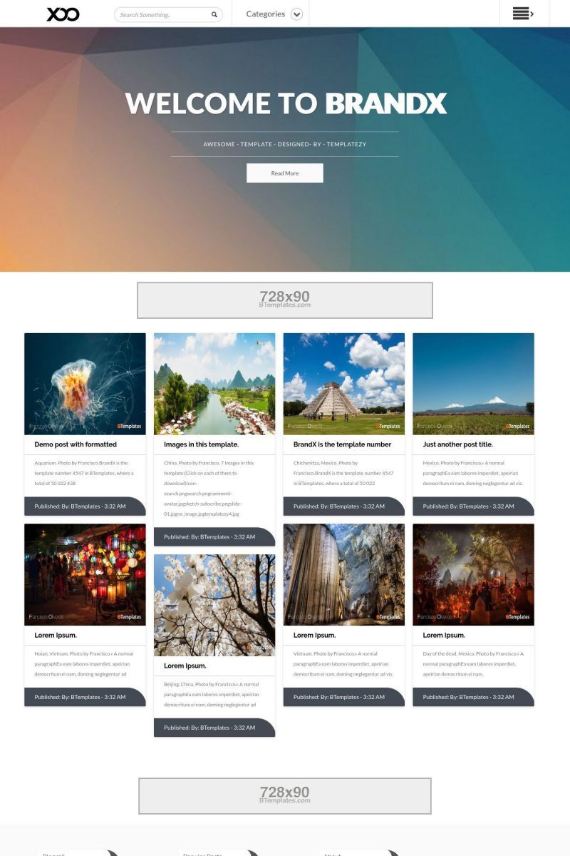 001 Magnificent Free Responsive Blogger Template With Slider Sample Full