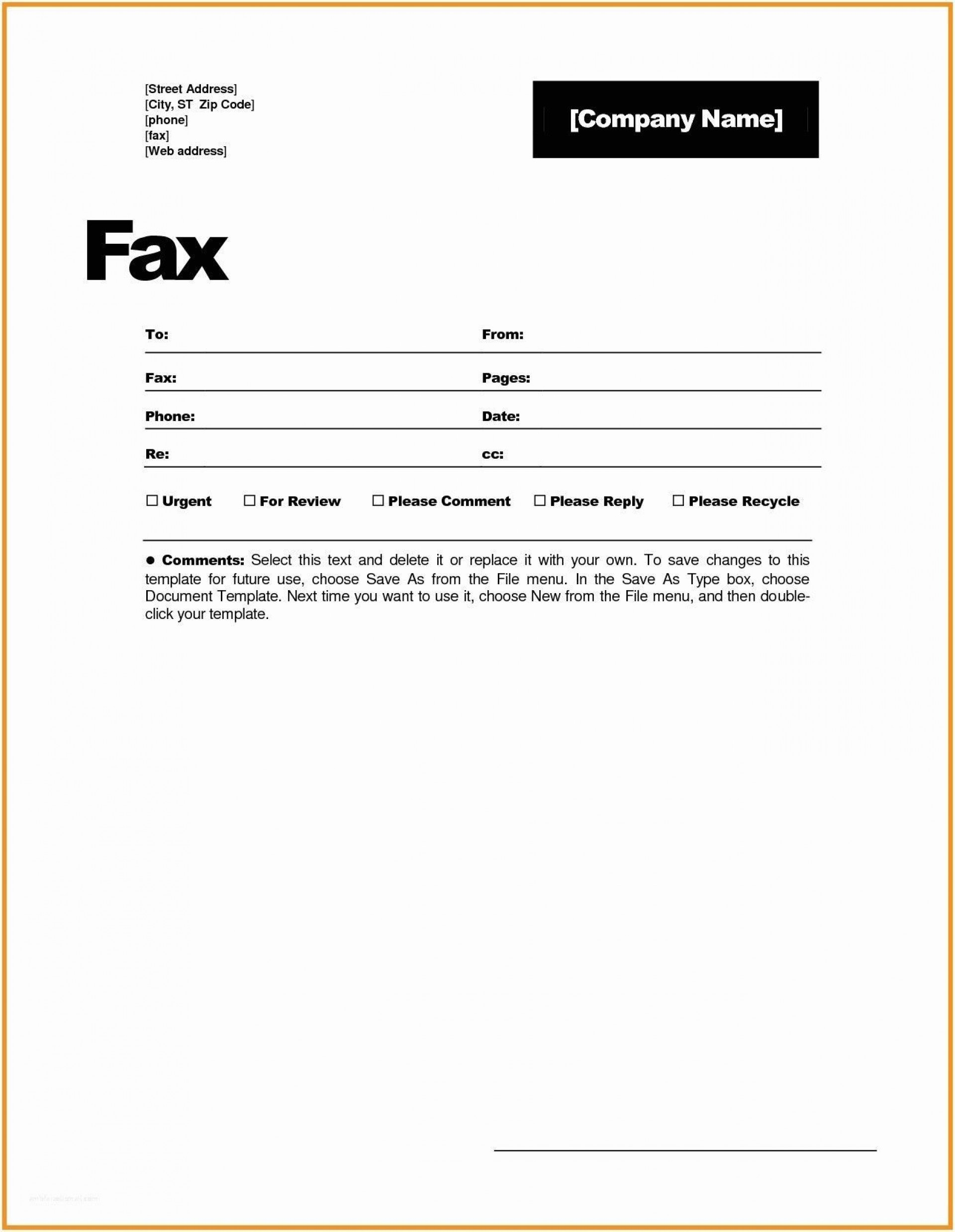 001 Magnificent General Fax Cover Letter Template Photo  Sheet Word Confidential Example1920