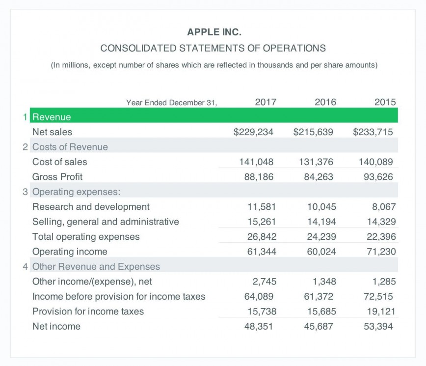 001 Magnificent Income Statement Format In Excel Download Image