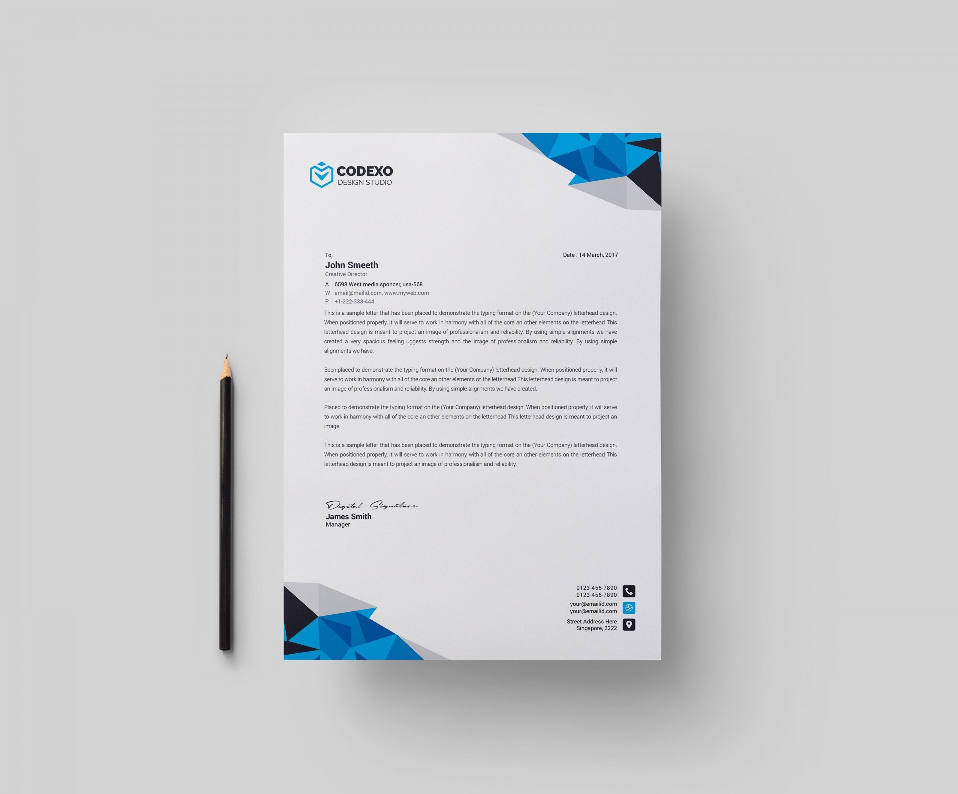 001 Magnificent Letterhead Template Free Download Psd High Def  A4 Company1920