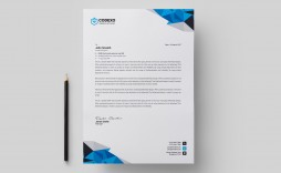 001 Magnificent Letterhead Template Free Download Psd High Def  A4 Company