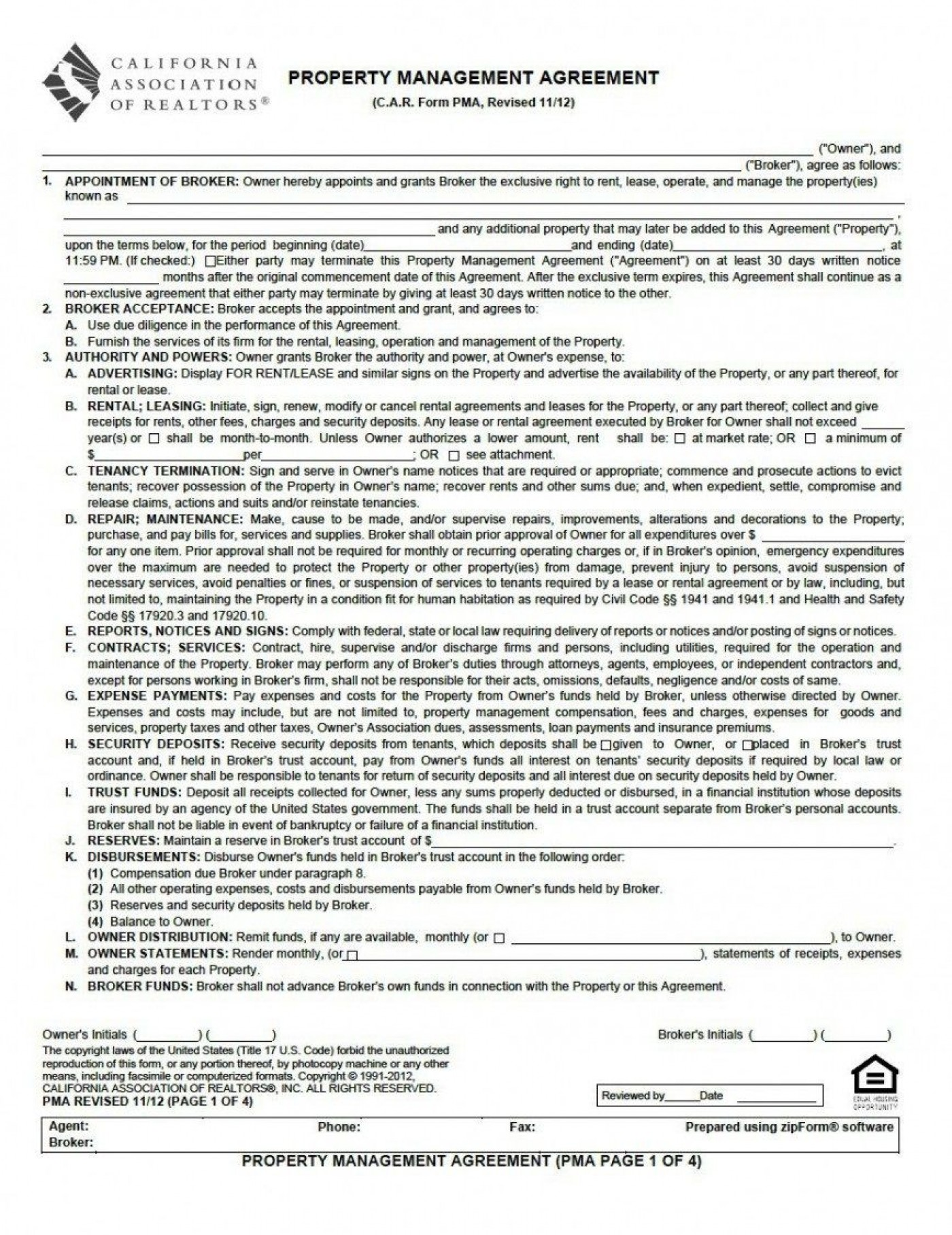 001 Magnificent Property Management Contract Template Uk Sample  Free Agreement Commercial1400