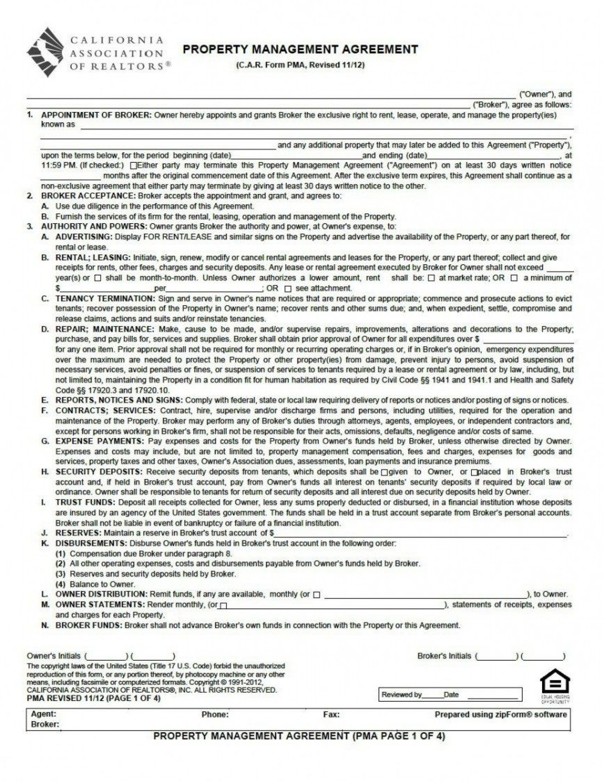 001 Magnificent Property Management Contract Template Uk Sample  Free Agreement Commercial1920