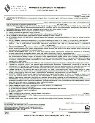 001 Magnificent Property Management Contract Template Uk Sample  Free Agreement Commercial320