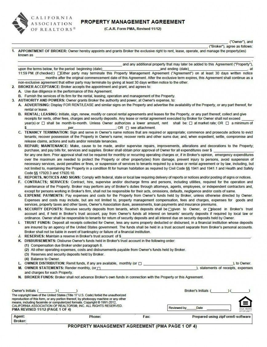 001 Magnificent Property Management Contract Template Uk Sample  Free Agreement Commercial868