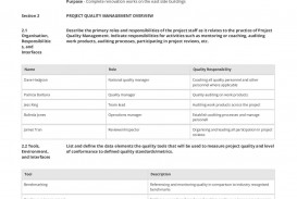 001 Magnificent Quality Management Plan Template Highest Clarity  Sample Pdf Example In Construction Doc
