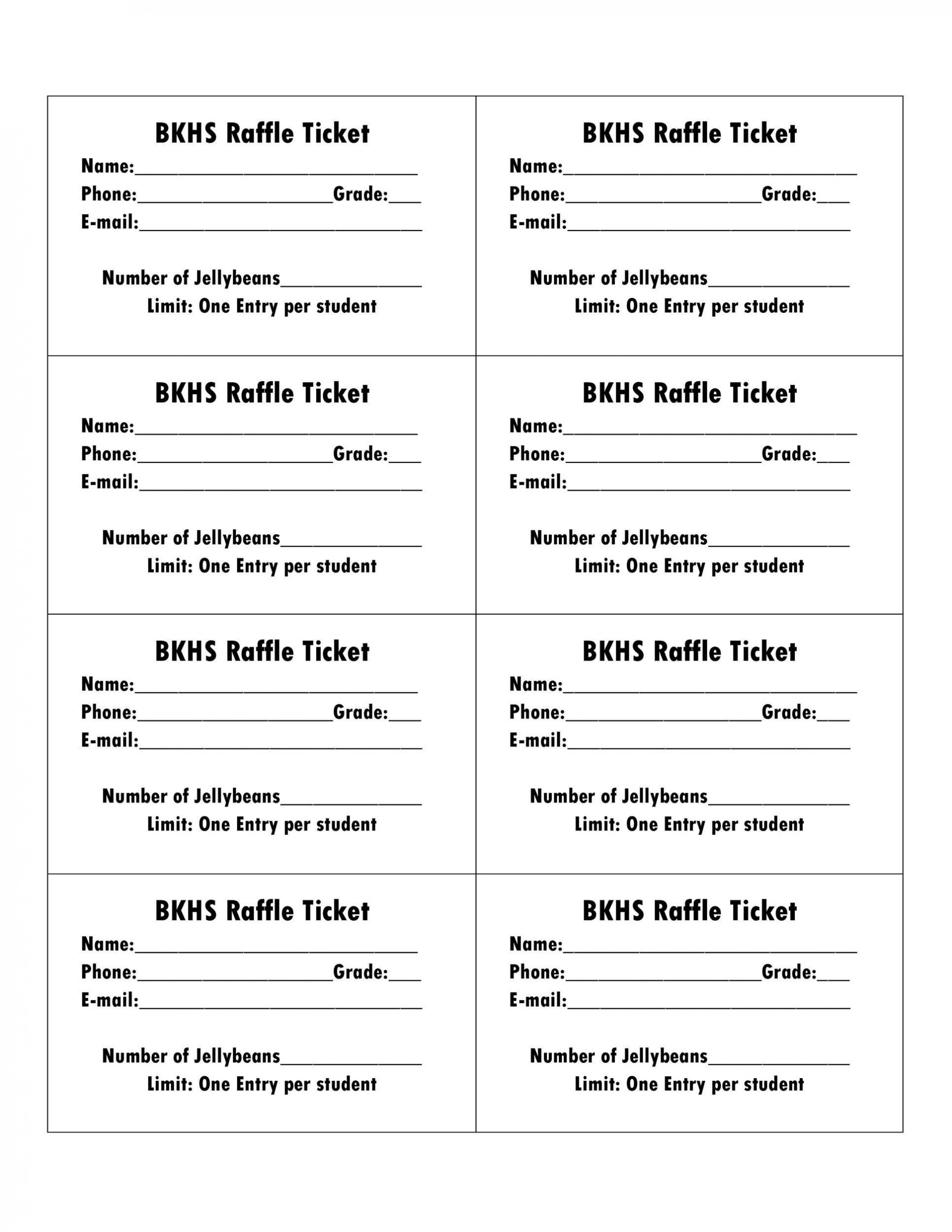 001 Magnificent Raffle Ticket Template Word Photo  8 Per Page Format1920