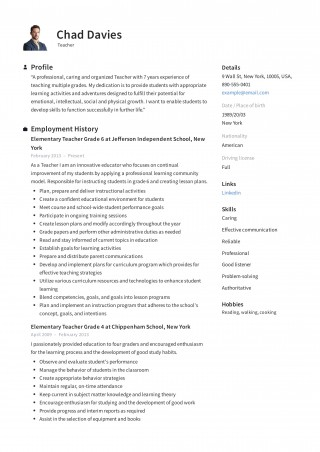 001 Magnificent Resume Template For Teaching High Resolution  Example Assistant Cv Uk Job320