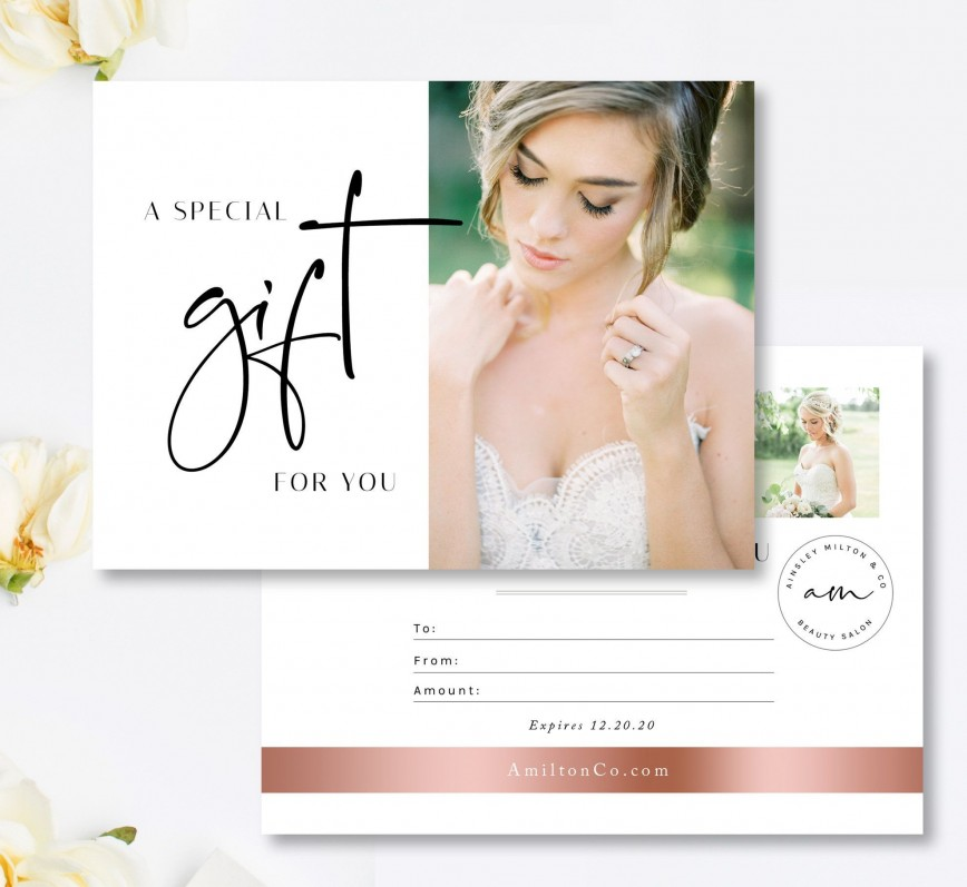 001 Magnificent Salon Gift Certificate Template High Def 868