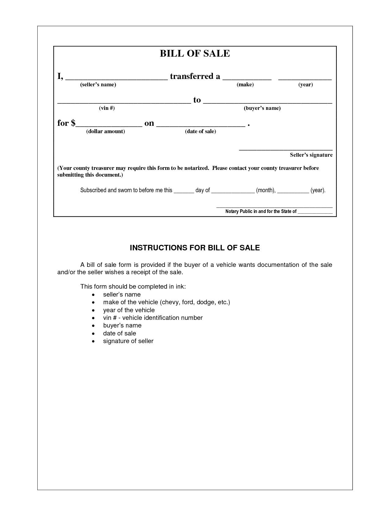 001 Magnificent Simple Bill Of Sale Template Design  For Car Pdf Boat UkFull