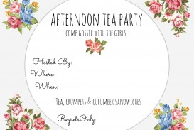 001 Magnificent Tea Party Invitation Template Free Example  Vintage Princes Printable