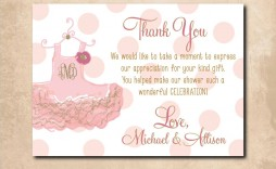 001 Magnificent Thank You Note Wording Baby Shower High Definition  For Hosting Card