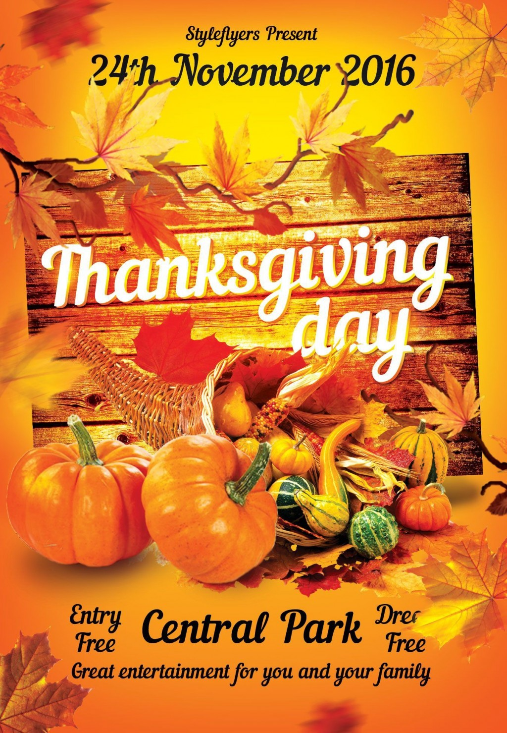 001 Magnificent Thanksgiving Flyer Template Free Example  Food Drive PartyLarge
