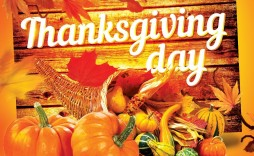 001 Magnificent Thanksgiving Flyer Template Free Example  Food Drive Party