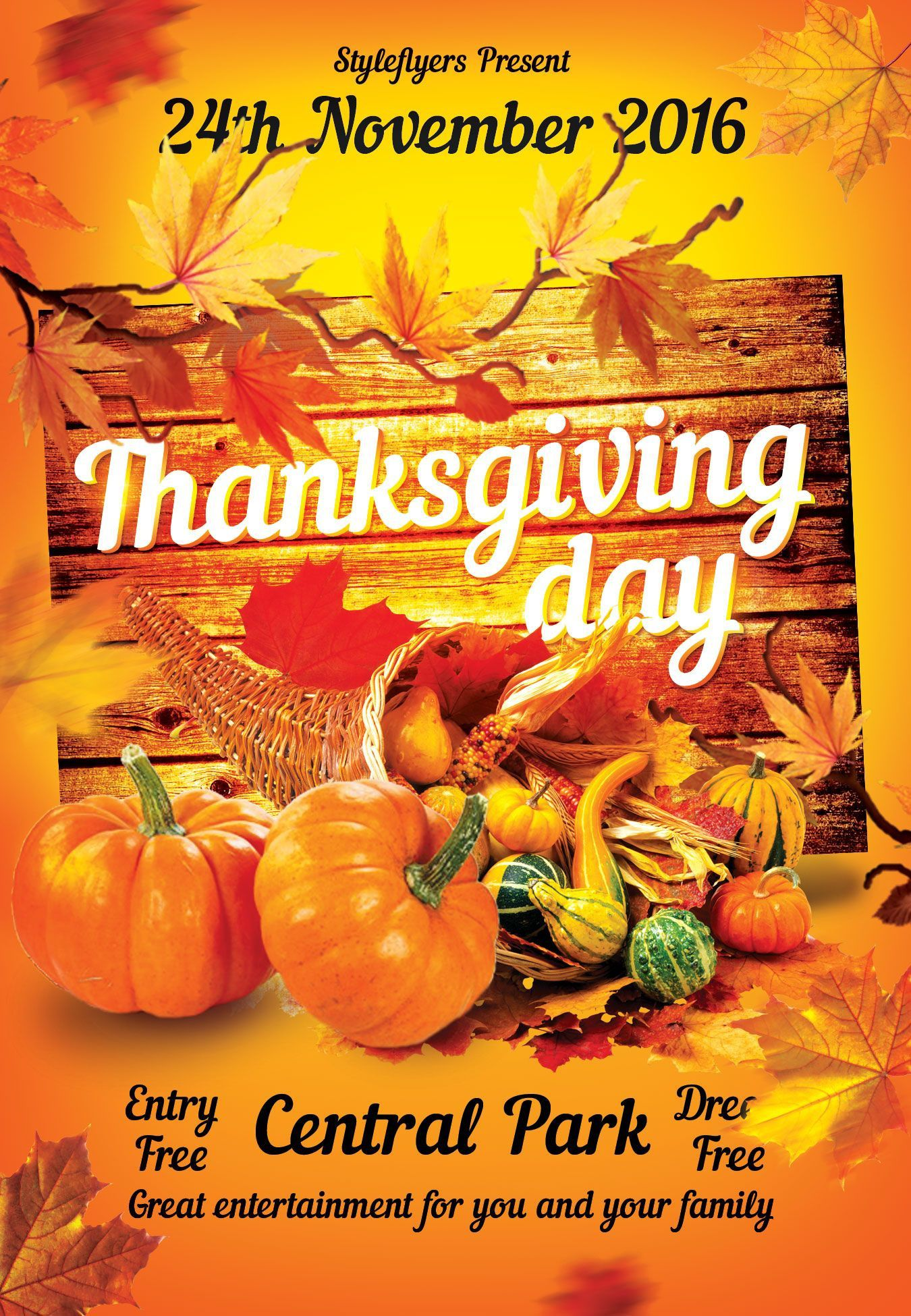 001 Magnificent Thanksgiving Flyer Template Free Example  Food Drive PartyFull