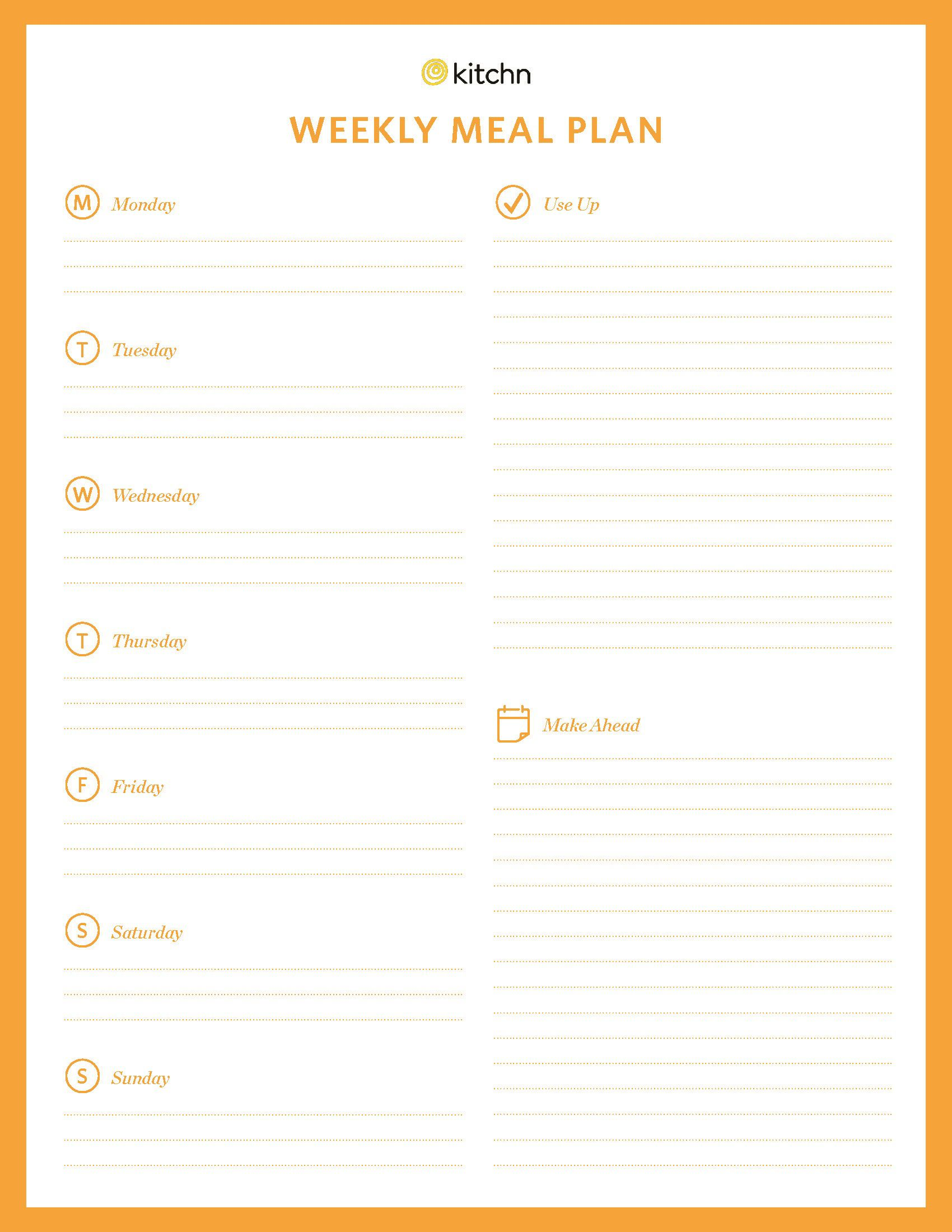 001 Magnificent Weekly Eating Plan Template High Definition  Food Planner Excel Meal DownloadFull