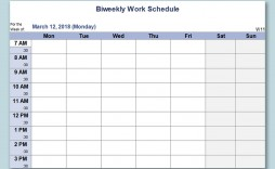 001 Magnificent Weekly Work Schedule Template Highest Quality  Pdf Free Excel