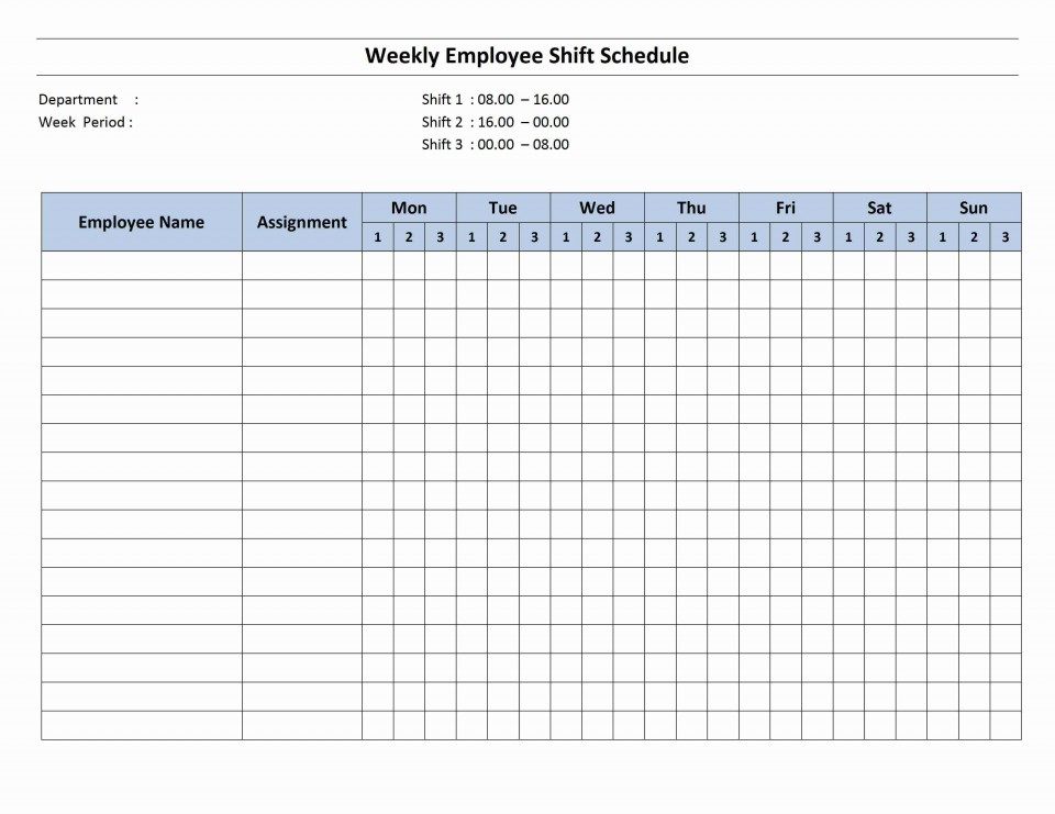 001 Magnificent Work Schedule Format In Excel Download Inspiration  Order Template Free960