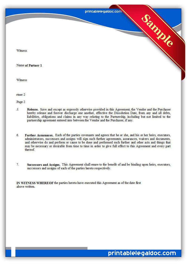 001 Marvelou Busines Partnership Separation Agreement Template Highest Quality  Partner TerminationFull