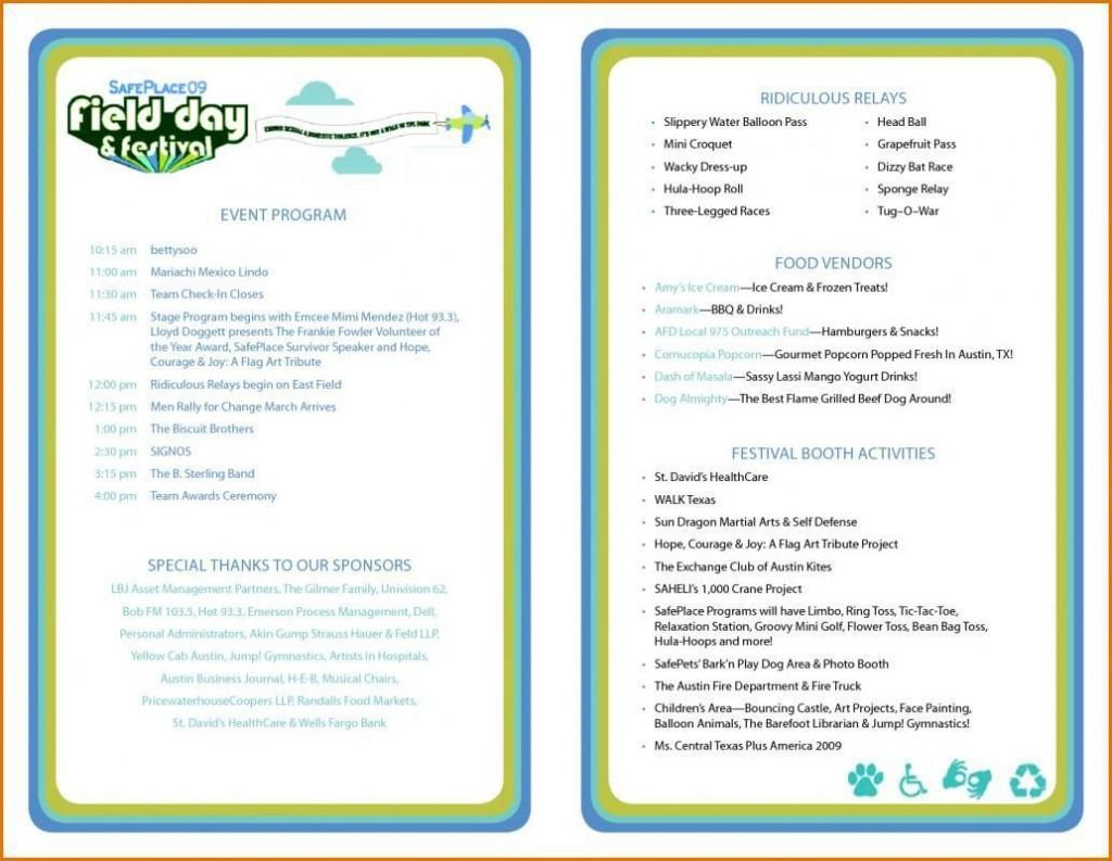001 Marvelou Free Event Program Template Image  Templates Half Fold Online DownloadLarge