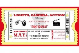 001 Marvelou Free Printable Movie Ticket Birthday Party Invitation High Def