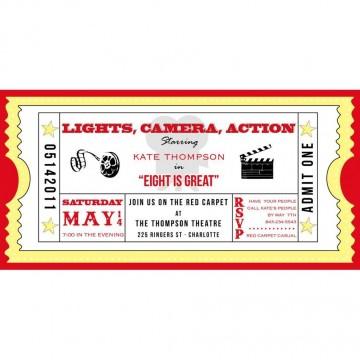 001 Marvelou Free Printable Movie Ticket Birthday Party Invitation High Def 360
