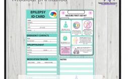 001 Marvelou Medical Wallet Card Template Idea  Free Alert Canada Information