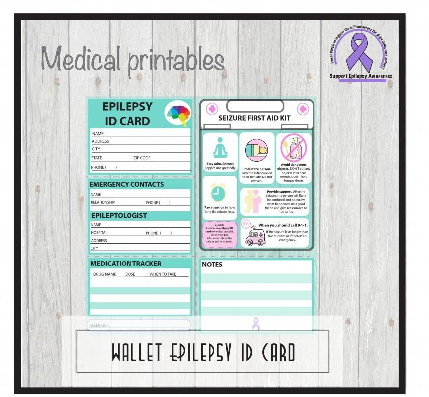 001 Marvelou Medical Wallet Card Template Idea  Alert Canada Information