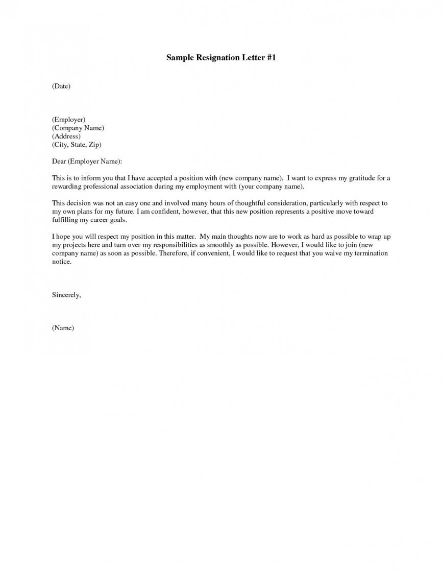 001 Marvelou Sample Resignation Letter Template Example  Word For Teacher Email