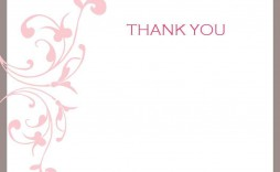 001 Marvelou Thank You Note Template Printable High Definition  Letter Baby Card Word