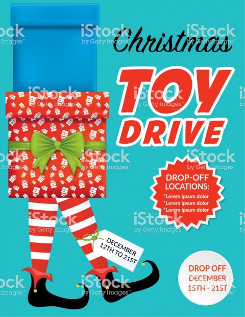 001 Marvelou Toy Drive Flyer Template Free Highest Clarity  Download Christma480