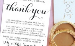 001 Marvelou Wedding Thank You Note Template Example  Shower Gift Present Bridal Sample